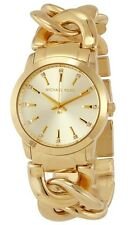 Michael Kors Ladies Elena Gold-Tone Twist Chain Watch  - MK3608