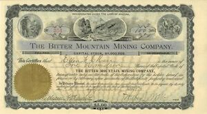 The-Bitter-Mountain-Mining-Company-gt-1900-Arizona-old-stock-certificate-share