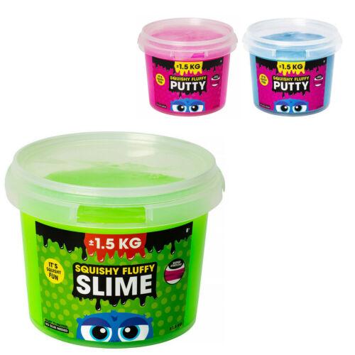 Squishy Fluffy Slime 1,5kg Glibber Schleim Kinder Spielschleim Geburtstag Eimer