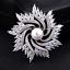 Vintage robe de mariage or Plaqué Argent Strass Cristal Bouquet Broche PINS