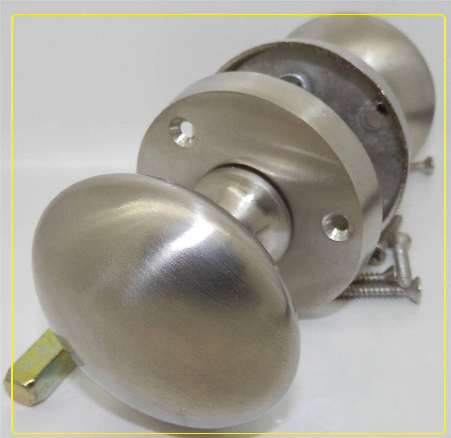 SATIN Door Knobs  Mortice Door Knob  internal round DOOR HANDLE 1 - 7 pairs