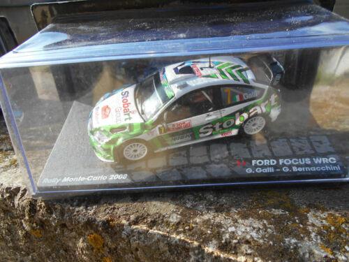 FORD FOCUS WRC-RALLY MONTECARLO 2008-G.GALLI-G.BERNACCHINI SCALA 1\43
