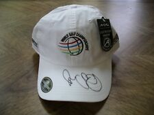 c63fa4299b8 autographed by Rory McIlroy white golf hat Bridgestone Invitational at  Firestone