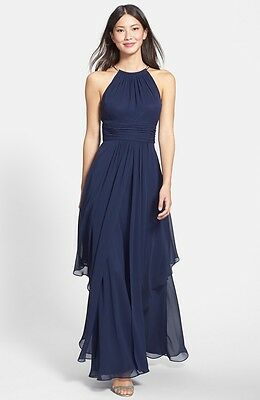 Eliza J Chiffon Halter Gown Bridesmaid Mother Of The