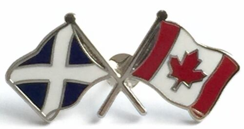 scotland canada lapel badge scots scottish canadian maple leaf