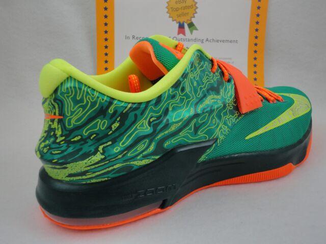 76dda1a42453 Nike KD Durant VII Sz 13 Weatherman Emerald Green Silver Orange ...