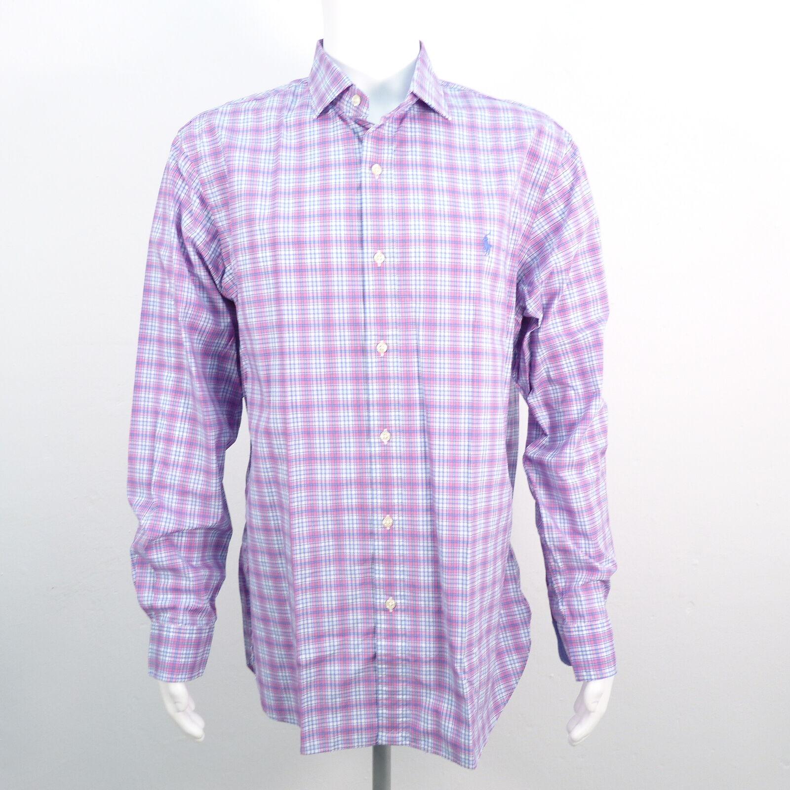 Ralph Lauren Polo Slim Fit 100% Coton Chemise Taille XL voiturereaux hommes Cotton Shi