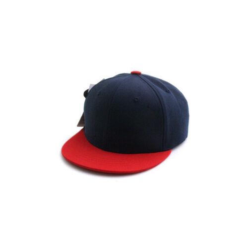 52~54Cm Kids Boys Baby Girls Solid Color Baseball Cap Snapback Hats Navy