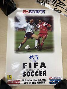 Official Rare Fifa Super Nintendo Snes Promo Poster