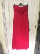 New! COAST Pink Silk Chiffon CLEO Maxi Strapless Full Length Column Dress 12