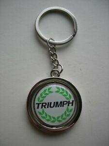 Triumph Spitfire Tr3 Tr4 Tr6 Stag Metal Key Fob Key Ring Keyring Key