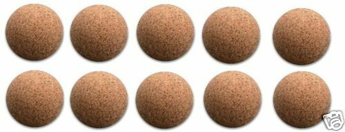 10 Liège Balles Nature Balles pour Baby-Foot Balles de Baby-Foot Balle en Liège