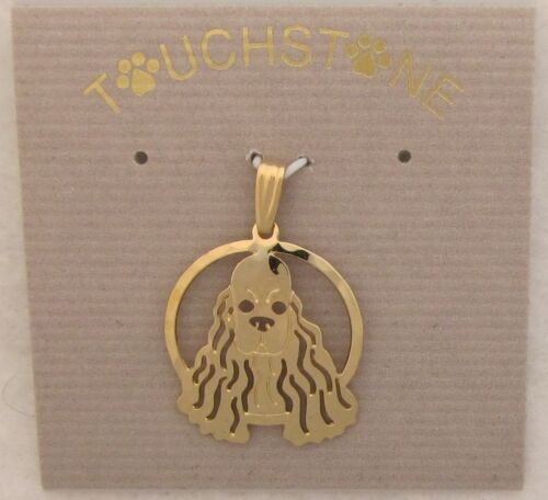 Cocker Spaniel Jewelry Gold Pendant by Touchstone