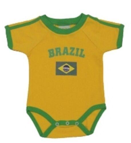 Brazil//Brasil Diaper Vest Sizes 3//6//9//12//18//24 Months World Cup 2018