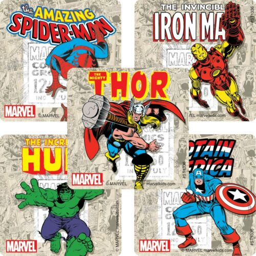 Marvel Comics Favours Avengers Stickers x 5 Loot Ideas Birthday Party
