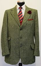 MS937 MENS DAKS GREEN TWEED JACKET BLAZER CHEST 42 UK