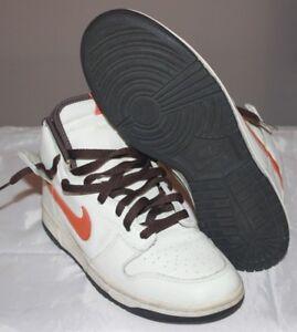 timeless design 75cd0 b38c2 Nike SB DUNK HIGH SAIL WHITE ORANGE BLAZE BAROQUE PAUL BROWN 305287 ...