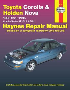 new haynes toyota corolla ae101 ae102 1993 1996 repair manual rh ebay com toyota corolla verso haynes manual pdf haynes repair manual toyota corolla 1993 thru 2002