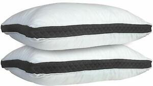 Gusseted-Pillow-Set-of-2-Bed-Pillows-Neck-Support-Side-amp-Back-Sleepers-Pillows