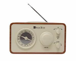 SINGING-WOOD-Retro-Vintage-Wooden-AM-FM-Radio-Cherry-Wood