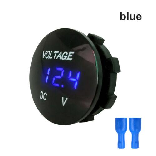 digital groupe compteurs de tension voiture voltmètre gabarit de batterie moto
