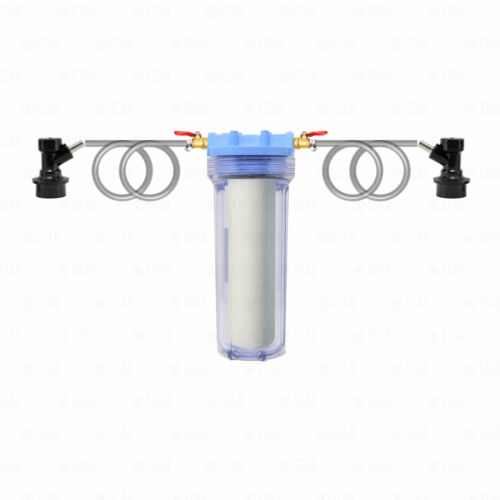 Corny Keg Connectors Beer Wine Filter Kit 1 Micron Home Brewing Clarification