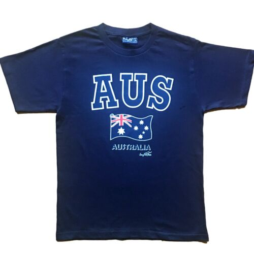 Adults Mens T Shirt Australian Australia Day Souvenir Top Navy Flag 100/% Cotton