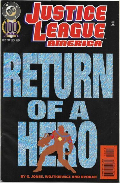 Justice League America (1989) #100 - VF - Holo Foil Cover