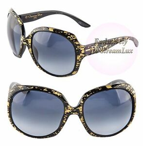 6c4375d11318 Image is loading CHRISTIAN-DIOR-GLOSSY-1G-93HHD-Oversized-Round-Black-