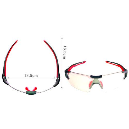 ROCKBROS Cycling Bike Photochromatic Rimless Sunglasses UV400 Goggles 3 Colors
