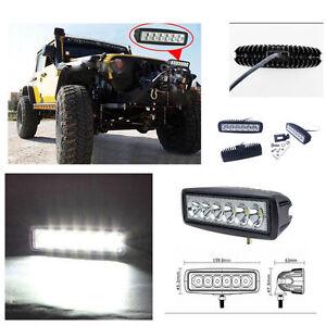 6-LED-Fog-Light-Work-Light-Bar-Spot-Beam-Off-Road-Driving-Lamp-1-Pc-18W-CREE