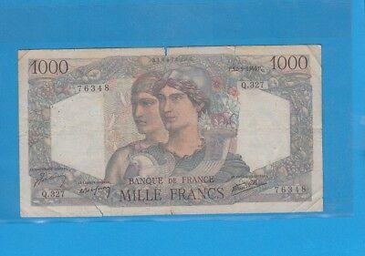 1 000 Francs Minerve Et Hercule Du 12-9-1946 Q.327