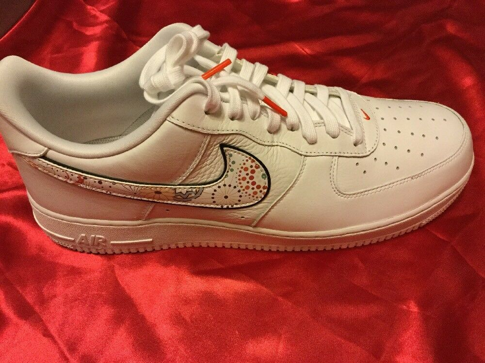 Nike air force 1 '07 lny qs white-habanero rosso