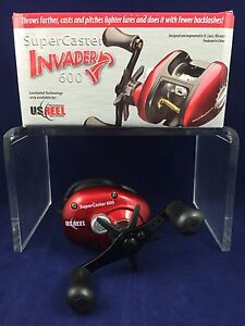 SALE! NEW! U.S. Reel - SuperCaster Invader 600 - Bait Casting Reel - Boxed