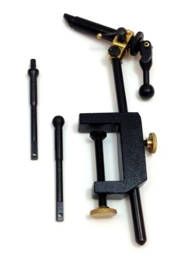 Combo Fly Vise//Pedestal base By Fishnett CBFF102 with 2 Extra Jaws Brand New