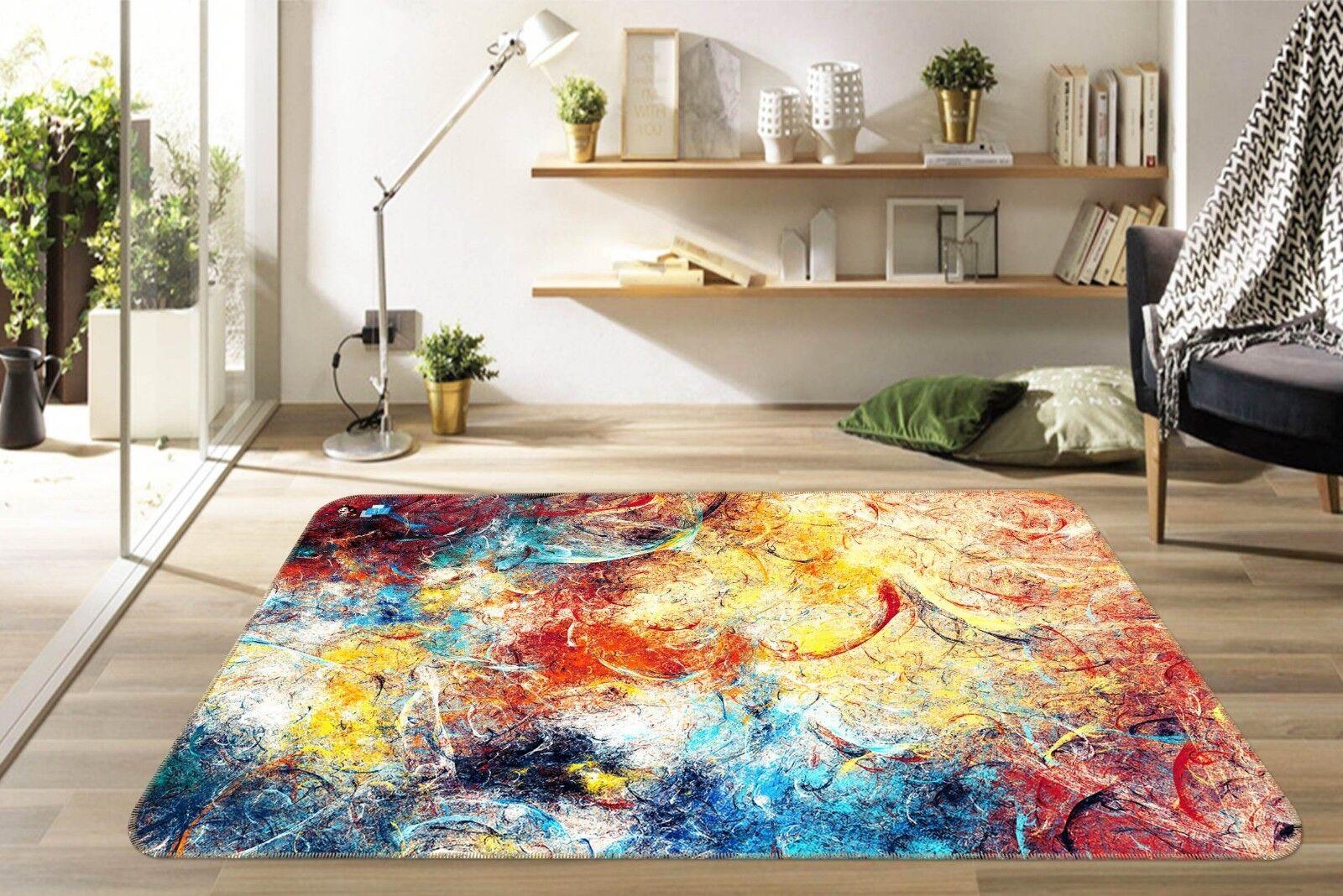 Alfombra 3D pintura al óleo pintada 99 antideslizante mat alfombra elegante alfombra de sala DE