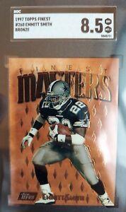 1997 Finest Football Emmitt Smith #260 SGC 8.5 NM-MT+ Dallas Cowboys HOF RB