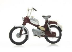 Artitec-387-266-Moped-Puch-rot-H0-1-87-Fertigmodell-Handbemalt-Motorfahrrad