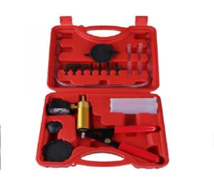 Hand Held Brake Bleeder Vacuum Pressure Pump Tester Tool Kit Adapters for Autos