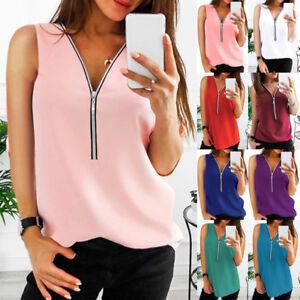 Women-Zipper-Sleeveless-Casual-Vest-Top-Blouse-Ladies-Summer-Loose-T-Shirts-Top