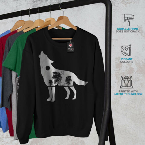 Wolf Wild Nature Animal Men Sweatshirt NEWWellcoda