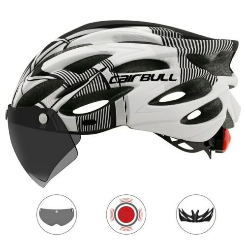 Cycling Helmet Adult Ultralight With Removable Visor Goggles Bike Taillight MTB