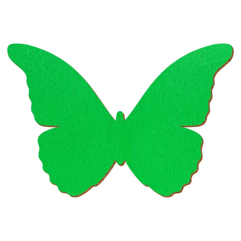 Grüner Holz Schmetterling - 3-50cm Flügelspannweite Streudeko Basteln Deko Tisch | Niedriger Preis  | Niedriger Preis