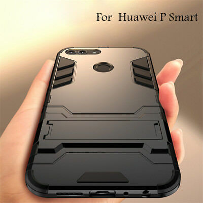 best service 615f7 64607 For Huawei P Smart 360° Shockproof Hybrid Kickstand Rubber Cover Armor Case  | eBay