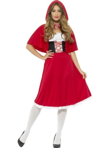 Ladies Longer Red Riding Hood Fancy Dress Costume Book Day Outfit by Smiffys