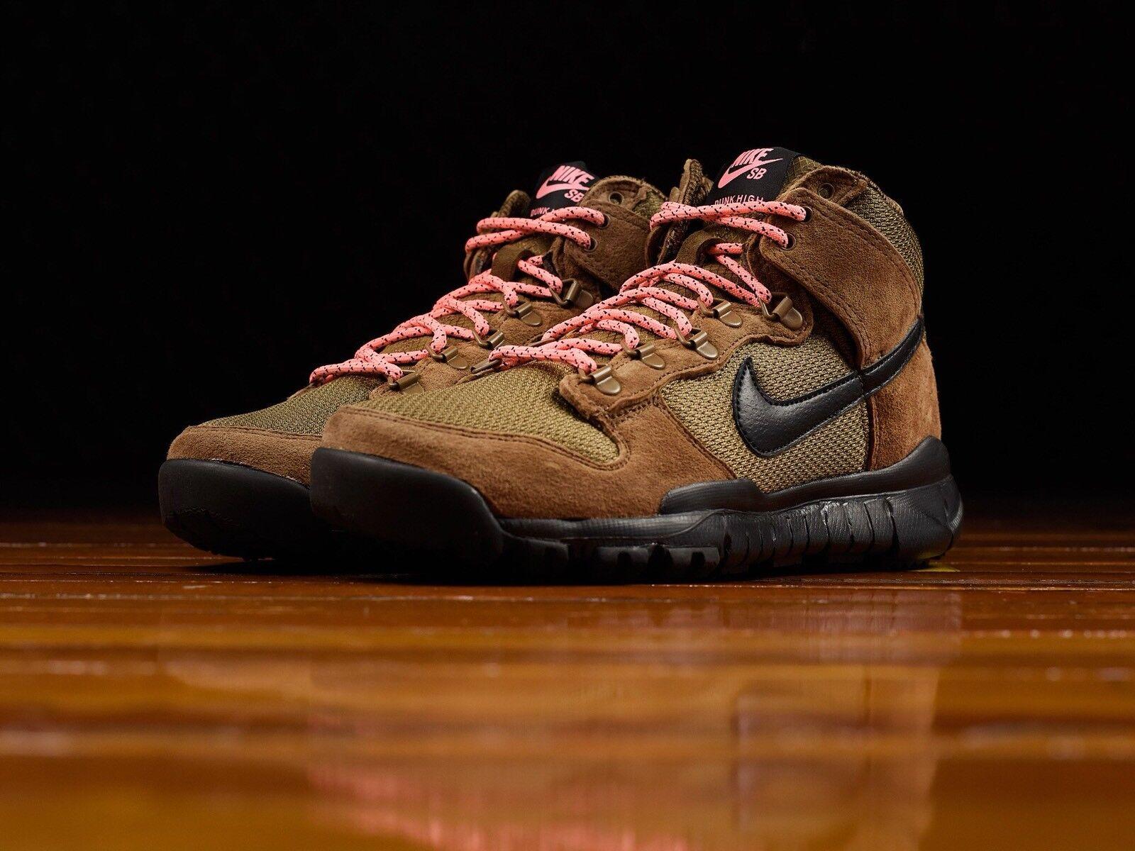 Nike sb canestro alto militare nero ed brown