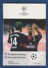 Orig.PRG   Ch.League  1997/98   BAYERN MÜNCHEN - PARIS SAINT GERMAIN  !!  SELTEN