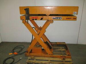 Rol-Lift-3000-LB-Electric-Scissor-Lift-Table-110v-Rotating-Top-36-034-Travel