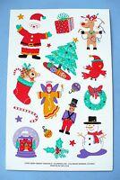 Vintage 1995 Christmas Stickers Current 1 Big Sticker Sheet
