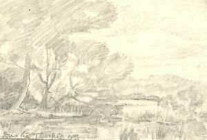 Set of Five Mid 20th Century Graphite Drawings - Mountain Studies